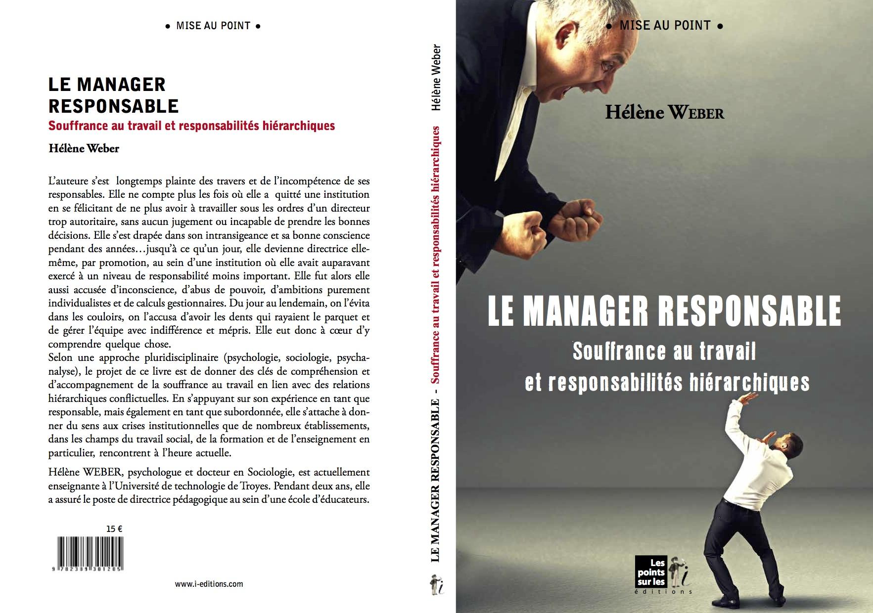 «Le manager responsable» : mon nouveau livre !