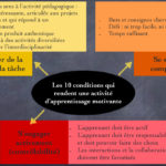 Les 10 conditions qui rendent une activité d'apprentissage motivante (version 2)